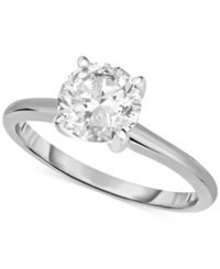 Macy's Certified Diamond Engagement Ring In 14K White Or Yellow Gold 1 1 4 Ct. T.W.