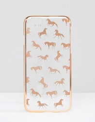 Asos Iphone 6 And 6S Unicorn Print Case Rose Gold Copper