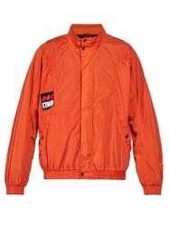 Heron Preston Стиль Logo Zip Through Jacket Red Multi