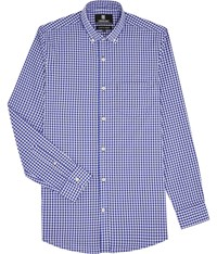 Austin Reed Regular Fit Gingham Check Shirt Blue