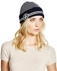 Tory Burch Reversible Striped Beanie