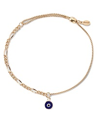 Alex And Ani Precious Metals Evil Eye Figaro Pull Chain Bracelet Gold Filled