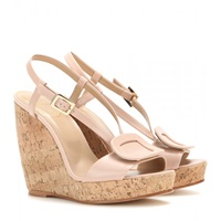Roger Vivier Leather Wedge Sandals