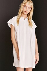 Cooperative Peyton Poplin Button Down Shirt Mini Dress White