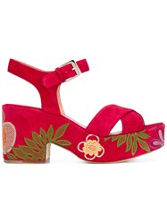 Laurence Dacade Nadine Sandals Women Leather Suede 37 Red