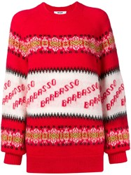 Msgm Barbasso Knit Jumper Red