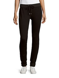 Andrew Marc New York Solid Track Pants Black