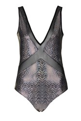 Holographic Mesh Insert Body By Jaded London Silver