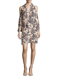 Parker Foliage Print Stand Collar Dress Privett