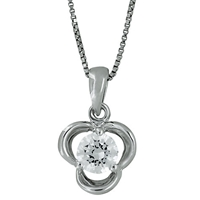 Jools By Jenny Brown Cubic Zirconia Large Pendant Silver