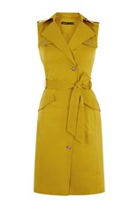 Karen Millen Pocket Safari Dress Yellow