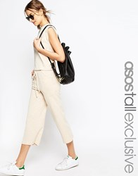 Asos Tall Lounge Pastel Marl Trousers Oatmeal