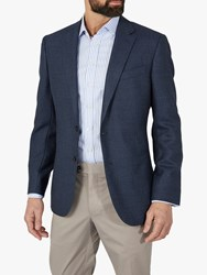 Chester Barrie By Birdseye Suit Jacket Blue