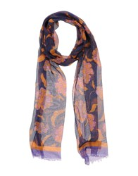 Class Roberto Cavalli Accessories Oblong Scarves Women Dark Purple