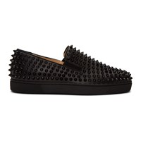 Christian Louboutin Black Roller Boat Sneakers
