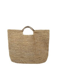 Flora Bella Napa Lux Metallic Raffia Beach Tote Natural Gold