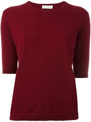 Ballantyne Short Sleeve Jumper Red