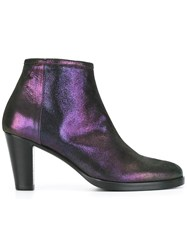 A.F.Vandevorst Side Zip Boots Pink Purple