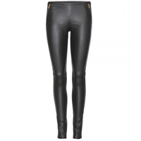 Emilio Pucci Stretch Leather Leggings Nero