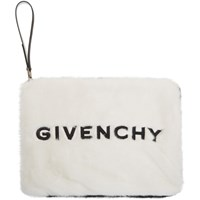 Givenchy Black And White Faux Fur Gv3 Pouch