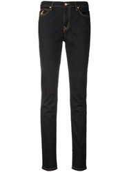 Vivienne Westwood Anglomania Contrast Stitch Skinny Jeans Blue