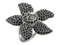 Oscar De La Renta Tropical Bloom Ring Black Diamond Ring