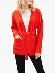 Jaeger Chunky Cardigan Red