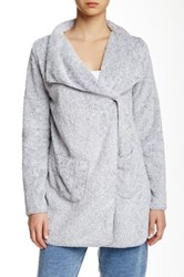 Pj Salvage Solid Cozy Cardigan Gray
