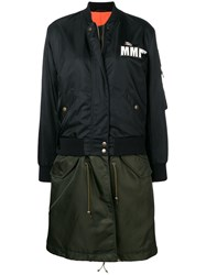 Mr And Mrs Italy Embroidery Clark Ross Bomber Parka Black