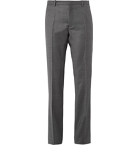 Jil Sander Slim Fit Wool And Cashmere Blend Flannel Trousers Gray