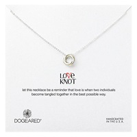 Dogeared Sterling Silver Love Knot Necklace Silver