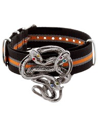 Gabriele Frantzen Black And Orange Snake Candy Bracelet