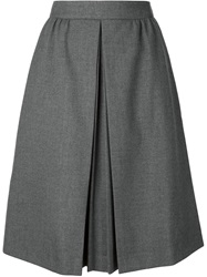 Viktor And Rolf Pleated Front A Line Skirt Grey