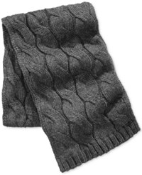 Michael Kors Men's Cable Knit Scarf Charcoal Melange Chh