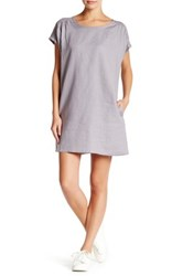 Allen Allen Linen Dolman Shift Dress Petite Gray