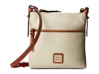 Dooney And Bourke Pebble Leather Letter Carrier Bone W Tan Trim Cross Body Handbags Beige