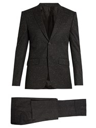 Givenchy Flecked Wool Blend Single Breasted Suit Black Multi
