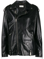 Saint Laurent Oversized Biker Jacket Black