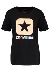 Converse Box Star Print Tshirt Black