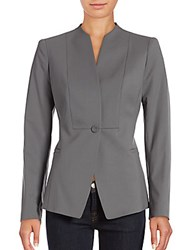 Lafayette 148 New York Max Virgin Wool Blend Jacket Rock