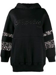 Frankie Morello Embroidered Lace Insert Hoodie 60