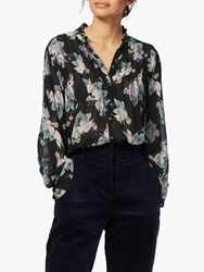 Brora Silk Pintuck Blouse Ivy Woodland