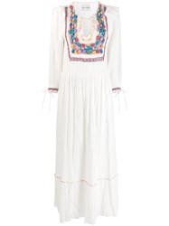 Antik Batik Crochet Panel Maxi Dress White