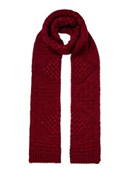 Linea Cable Knit Scarf Berry
