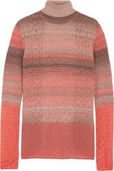 Missoni Backless Cashmere Blend Turtleneck Sweater Orange