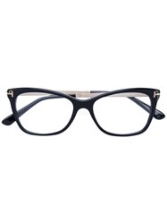 Tom Ford Eyewear Cat Eye Glasses Acetate Metal Other Black