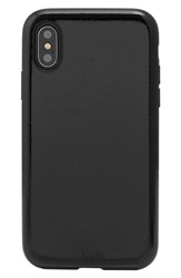 Sonix Black Patent Faux Leather Iphone X Case Black