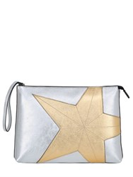 N 21 Star Metallic Leather Maxi Pouch