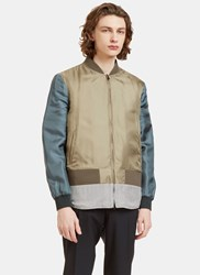 Fendi Reversible Padded Bomber Jacket Khaki