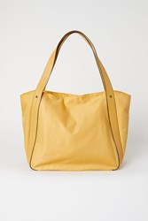 Handm Nylon Shopper Yellow